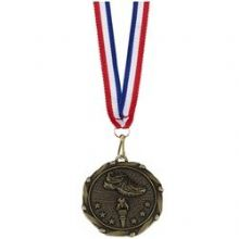 45mm Fun Run Medal with Red, White & Blue Ribbon